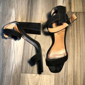 L'intervalle Nella Black suede sandals